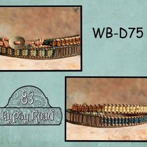 WB-D75 double beaded wrap bracelet